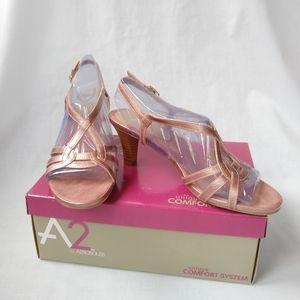 NWT A2 by Aerosoles Powermove Light Pink Heel